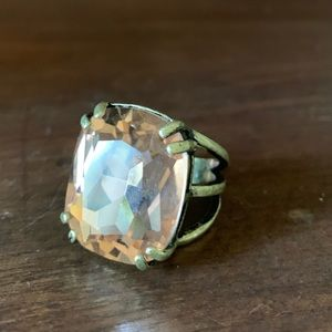 Champagne-colored Chloe + Isabel Ring, Size 6